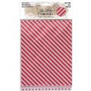 "TH93644 Tim Holtz® Idea-ology™ Adhesive Deco Sheets 7""X5.5"" 6/Pkg Christmas Glittered, 3 Designs/2 Each"